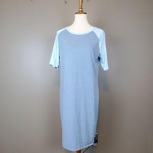Lularoe Blue Julia Dress Size XL